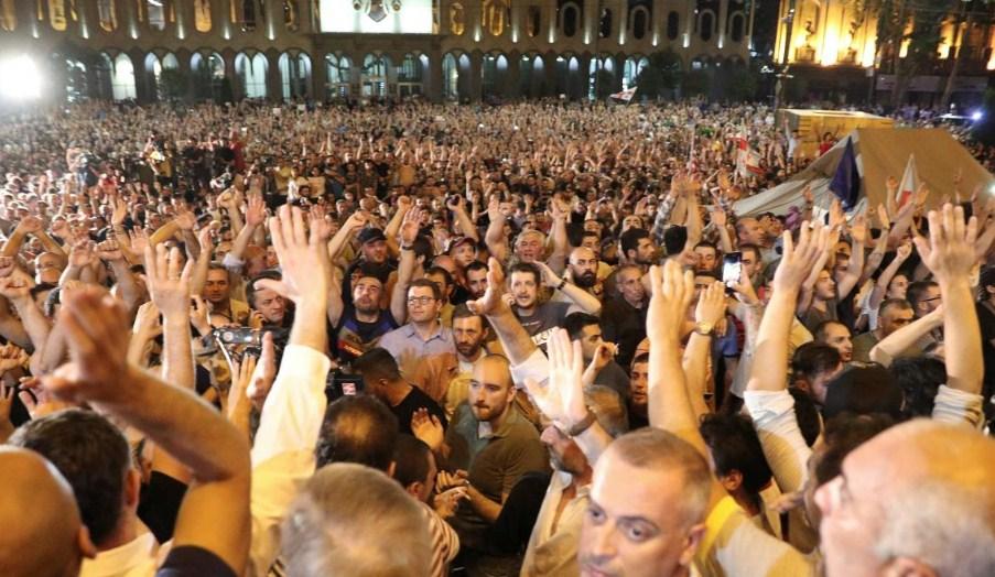 Протесты в Грузии 2019