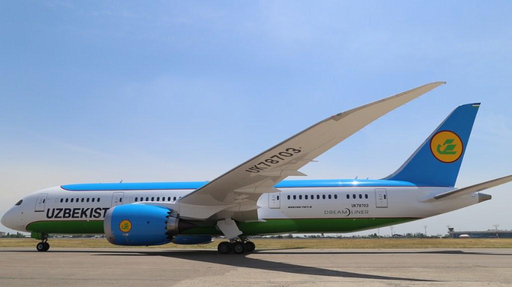 UzAirways получила Boeing 787 Dreamliner