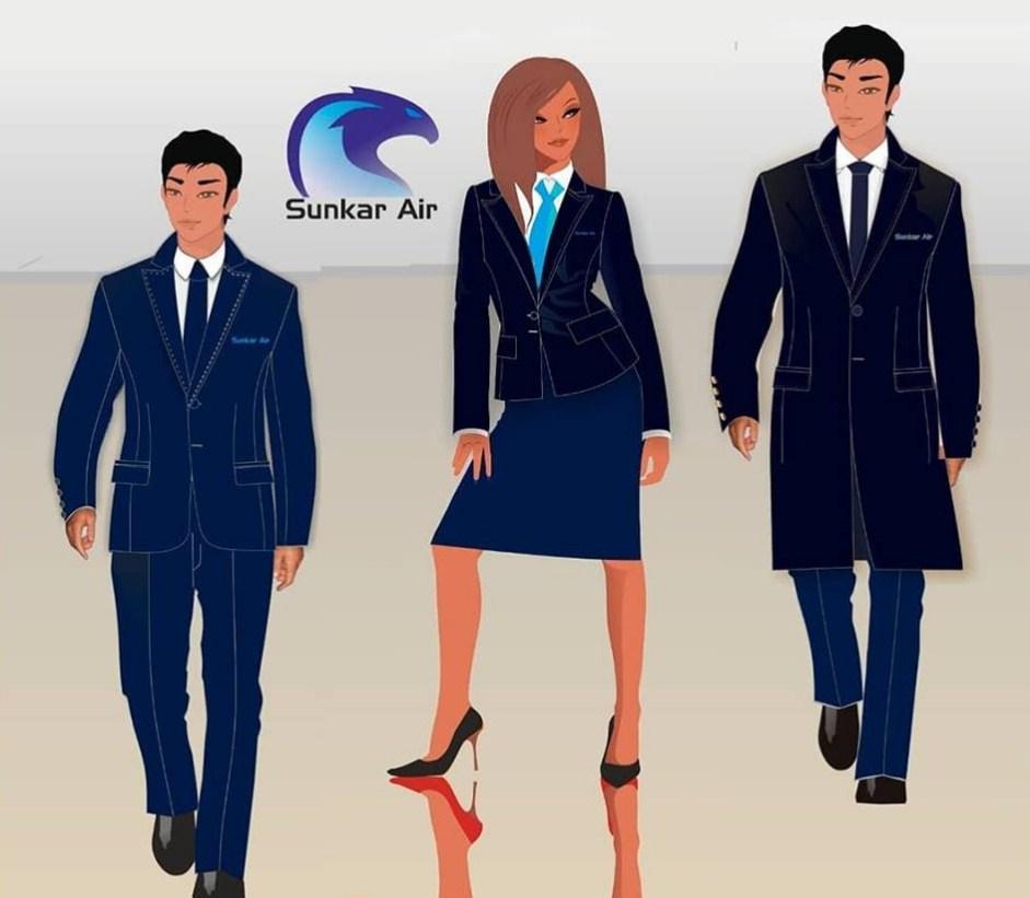 Новая униформа бортпроводников Sunkar Air
